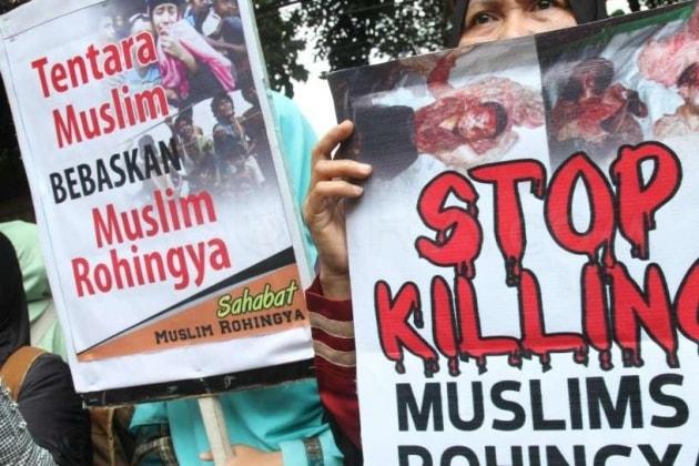 masa protes masalah rohingya